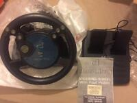 Destiny steering wheel and foot pads