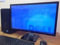 "FAST DELL Windows 10 - intel Core i5, 8GB Ram, GeForce HDMI + 24"" Dell Full HD Monitor PC"
