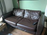 Fake brown leather sofa 25x32x65 inches