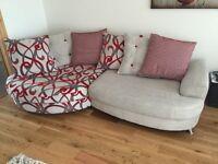 Left hand facing chaise fabric sofa **LIKE NEW**