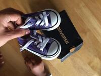 New Converse baby shoes in the box