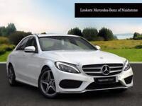 Mercedes-Benz C Class C200 D AMG LINE (white) 2015-09-25
