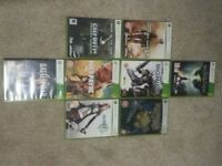 Assortment of xbox 360 games