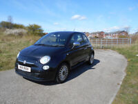 FIAT 500 POPULAR HATCHBACK STUNNING BLACK 2010 £30 TAX BARGAIN ONLY £2150 *LOOK* PX/DELIVERY