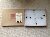 Ten Thousand Villages Blue Rhapsody Necklace and Earring Set