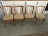 Beautiful Curved Oak Chairs