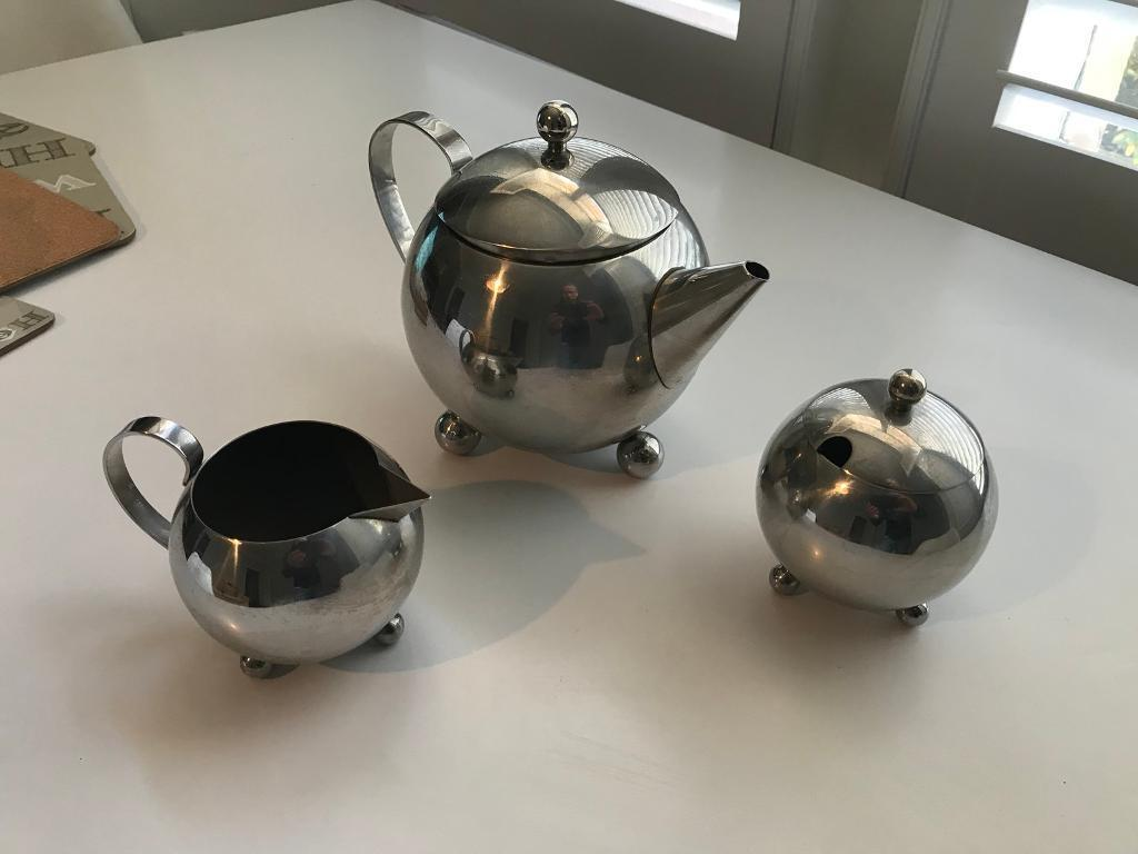 Chrome Tea Set