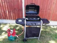 Gas 2 burner bab with side burner and bottle