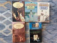 Books from Shakespeare, Woolf, Austen, Hardy.
