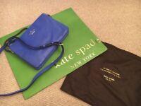 Brand New designer handbag / messenger bag - KATE SPADE -blue leather - new with bags - cost £200+
