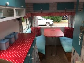 Vintage Cosalt Piper 1200 Caravan, 5 birth, beautifully decorated named 'Alice'