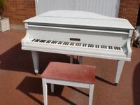 "CHALLEN BABY GRAND 4FT 6"" PAINTED £1100 CAN DELIVER SHABBY CHIC"