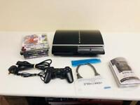 PlayStation 3 FAT 40GB 1 CONTROLLER DOCK CHARGING 7 GAMES