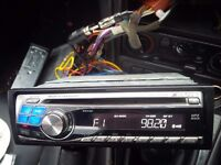 alpine cde-9845rb car stereo cd mp3 player 45w cage loom facebox etc all working