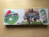 Novelty toilet time golf gift never used