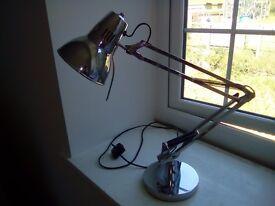 Chrome John Lewis desk lamp