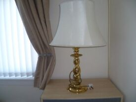 Large Brass Based Lamps
