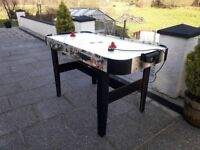 """Electric Air hockey table for sale, 4' 6"""" x 2' 3"""". Excellent condition seldom used. Tel 07752442210"""