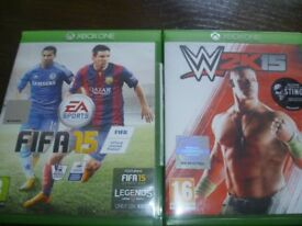 XBOX ONE games - Football and wrestling