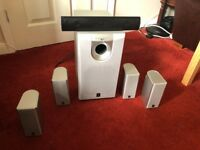 Yamaha Speakers, Sony Centre Channel Speaker and Active Sub Woofer