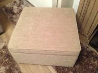 Large footstool pouffe