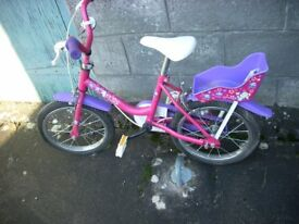 Raleigh Pink/Purple Bike age 4-5 yrs