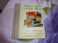 'HOW TO MAKE A CAKE RISE' 500 KITCHEN Tips and Tricks' and 'Just 5 ingredients ITALIAN' 2 x HB Books