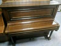 Beautiful Dark Oak 'Robert Stather' Upright Console Piano & Stool - CAN DELIVER