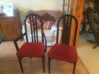 Black Ash dining room table and six chairs