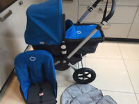 BUGABOO CAMELEON 2 TRAVEL SYSTEM IN BLUE (RECENTLY BEEN CLEANED AND SERVICED )