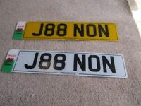 cherrished number plate on retenstion certificate