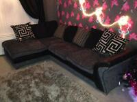 Large corner sofa plus swivel chair