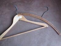 2 x 'Advertising' Vintage Wooden Coat Hangers