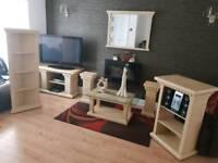 Greek style cream stone effect living room