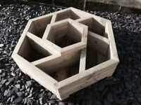 Handmade Hexagonal Herb/flower Planter ,with 7 separate sections