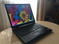 "IBM THINKPAD T43 LAPTOP/14"" SCREEN/ WIRELESS/ DVD/ WINDOWS 7"