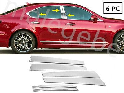 Fit 2007-2015 Lexus LS 460 Stainless Steel Chrome Pillar Post Trim Cover