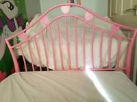 Girls' Pink Heart single bed frame