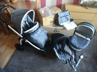Peg perego pram with accesories used 6 month with boxes like new