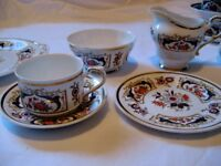 Vintage, early 1970s, 21 piece bone china tea set, Chelsea by Paragon
