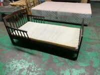 Wooden child bed and mattress