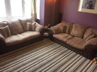 2 Pce 3 Seater Sofas inc. 1x Sofa Bed