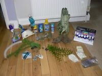 AQUARIUM,FISH TANK ACCESSORIES.LOGS,PLANTS,DECORATIONS ETC.