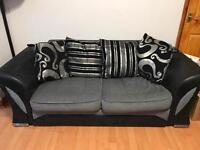 Farrow Fabric Sofa 3 + 2 Sofa in Black/Grey