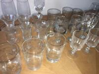 Drinking glasses, miniatures, shot glasses, Sherry and more