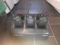 3 x Kenwood walkie talkies / 2 way radios