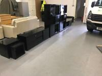 Beautiful black NEXT living room furniture. TV stand, coffee table, cabinet, side tables
