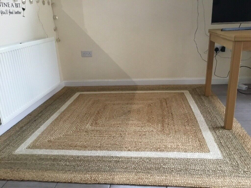 2 X Natural Jute Rugs 1 Is A Large
