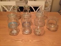 Collection of large glass jars perfect for storage or sweet buffets