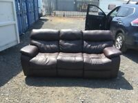 DFS Pellissima three seater Dark chocolate leather recliner sofas RRP £1295